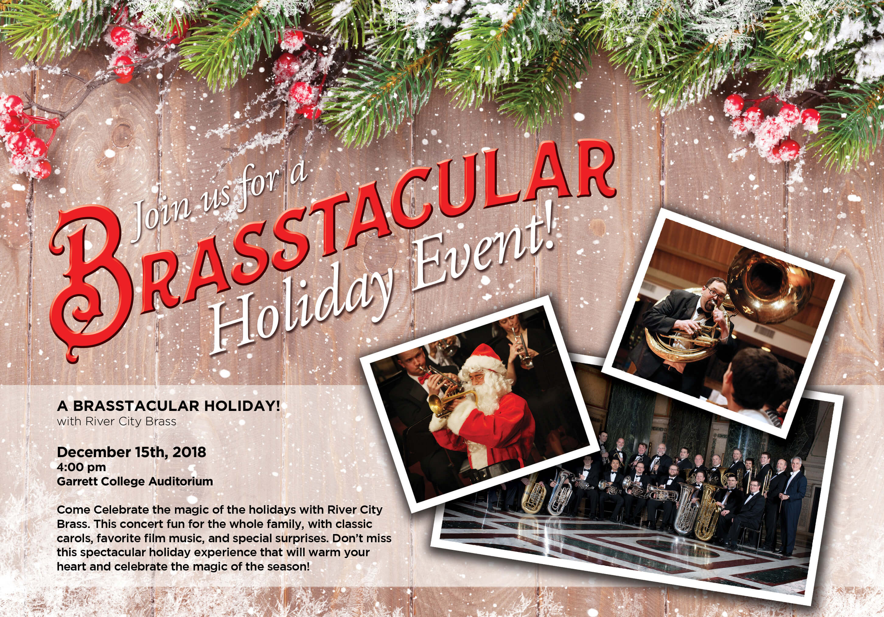 River City Brass Holiday Concert | Garrett Lakes Arts Festival
